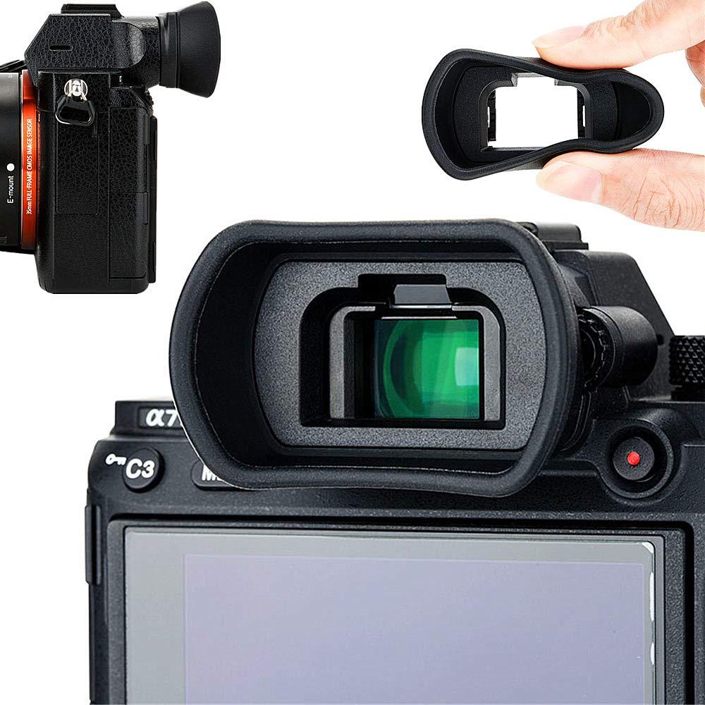 Soft Silicon Camera Viewfinder Eyecup Eyepiece Eyeshade for Sony A7 A7II A7III A7R A7RII A7RIII A7S A7SII A9 A58 A99II Eye Cup Protector Replaces Sony FDA-EP18 FDA-EP16 FDA-EP15 by Kiorafoto