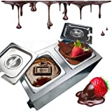 Li Bai Chocolate Tempering Machine Melting Pot Melts Commercial Electric Auto Heater Liquid Warmer Stainless Steel 4L…