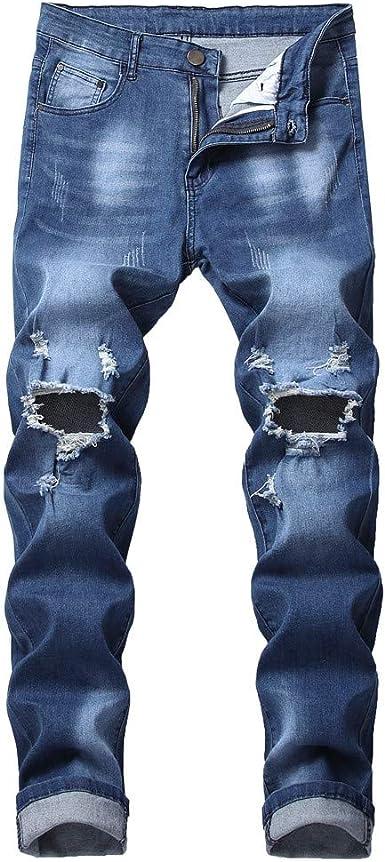 Pantalones Vaqueros Para Hombre Pantalones Casuales Moda Jeans Rotos Trend Largo Pantalones Pants Skinny Pantalon Fitness Jeans Largos Pantalones Ropa De Hombre Vpass Amazon Es Ropa Y Accesorios