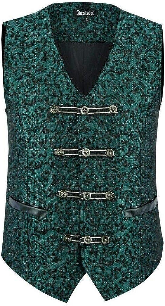 Mens Vest Waistcoat Damask Velvet Gothic Steampunk Aristocrat VTG//Brocade Vest//Green Damask//USA Design//USA Sizes