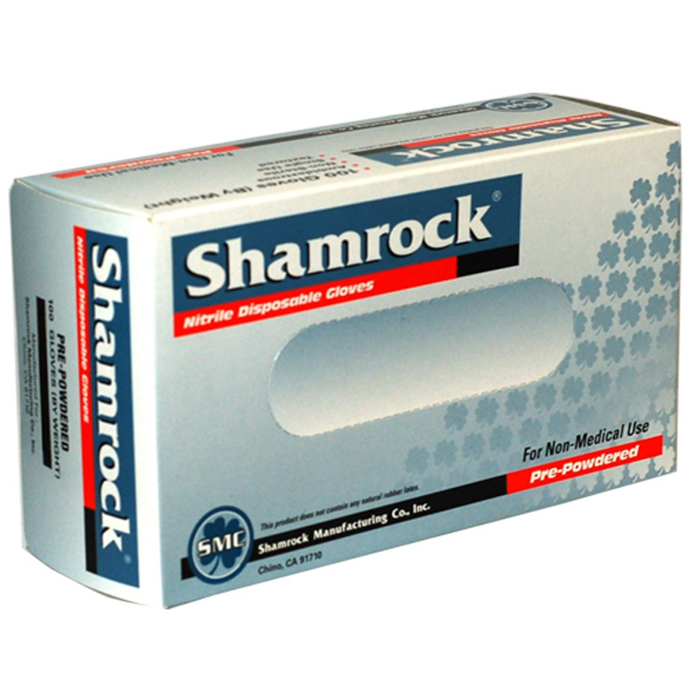 Shamrock 81114-XL-cs Food, Work, Nitrile Latex, Powdery, Cheap, X-Large, Blue by Shamrock