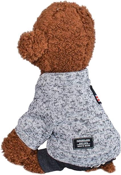 Savlot Hund Baumwolle Warmer Overall Hund warme Kleidung Haustier 4-beinige Winterkost/üme Welpen-Outfits Welpen-Overall Hundekleidung