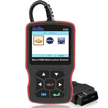 Creator C502 OBDII Diagnostic Scanner Tool for Mercedes-Benz Full System  OBD2 Code Reader Diagnostic Scanner Tool for Reading & Erasing Error Code  For