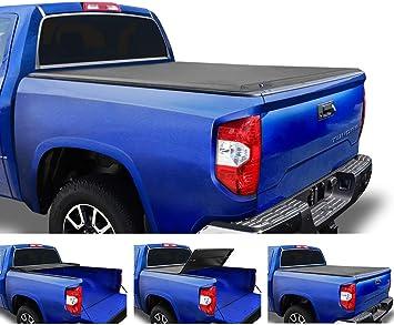 Amazon Com Tyger Auto T3 Soft Tri Fold Truck Bed Tonneau Cover For 2007 2013 Toyota Tundra Fleetside 5 5 Bed Tg Bc3t1032 Black Automotive