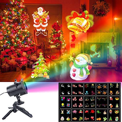 Christmas Lights, UNIFUN 15 Patterns LED Projector Light Waterproof Dynamic Outdoor Christmas Lights Spotlights Decoration for Christmas