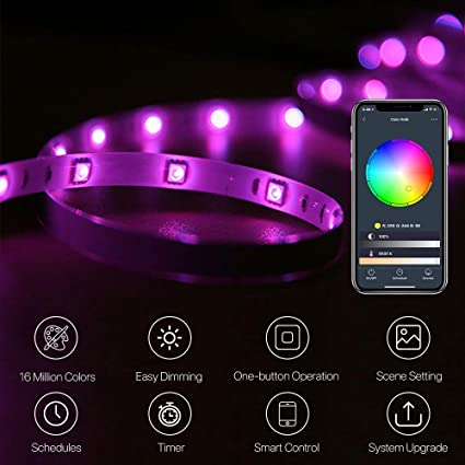 Led Night Lights Strong-Willed Usb Rgbw 9 Colors Wall Lamp Night Light With Built-in Music Player And Remote Control For Living Room Bedroom 100-240v Us Plug Lights & Lighting
