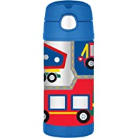 Thermos FUNtainer Vacuum Insulated Drink Bottle, 355ml, Construction Vehicles, F4011CS6AUS