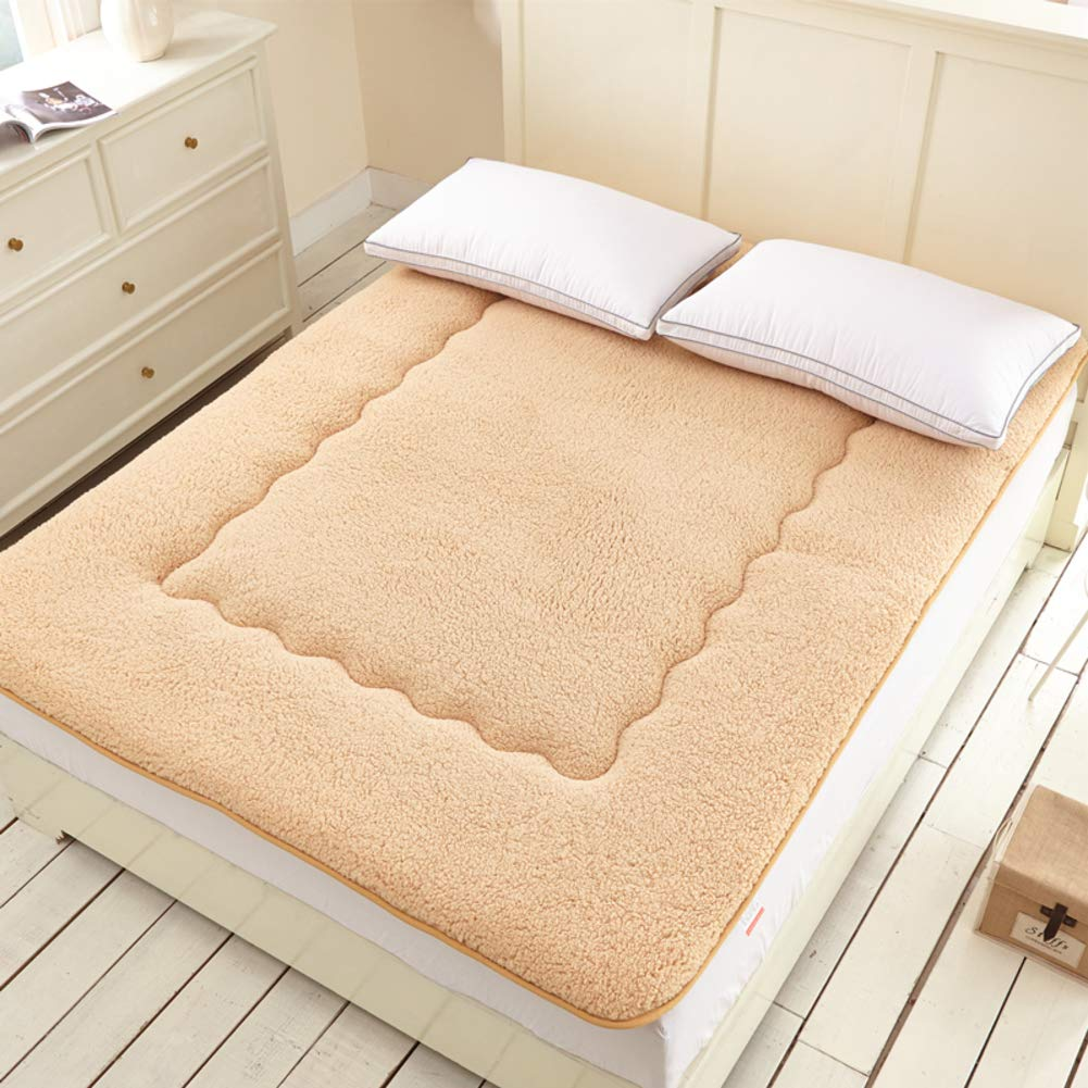 B 1.352m(4.5inch) Thick Warm Mattress,Foldable Soft Mattress Topper Tatami mat Non-Slip Sleeping Tatami Floor mat Traditional Single or Double Mattress pad-B 1.35  2m(4.5inch)