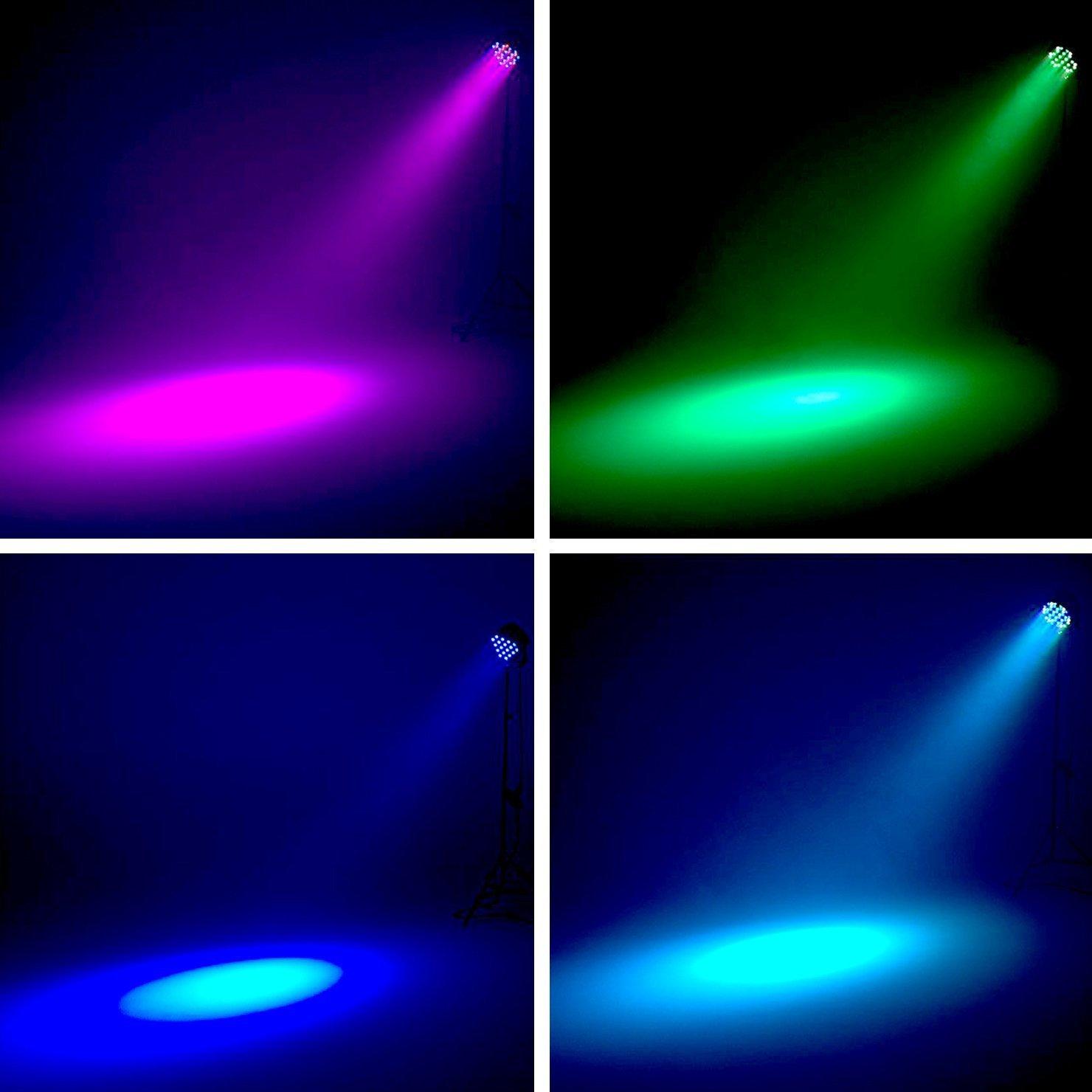 Eyourlife Led Stage Lights 8pcs 54x3w Dj Par Light Circuit Board Lightings Rgbw 162watt Dmx 512 Lighting Disco Projector For Home Wedding Party Church Concert