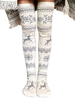 Romastory Womens Over Knee Leg Warmers Winter Elastic Socks Cotton Stockings Tights