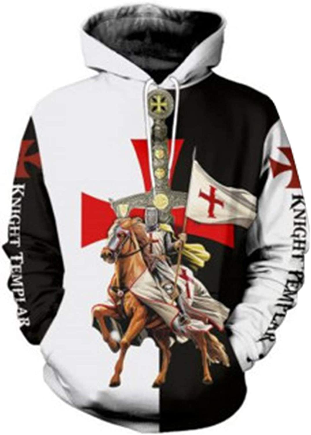 New Medieval Knights Templar hoodie Men/'s Pullover Hoodie S-3XL Free Shipping
