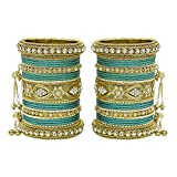 MUCH-MORE Women Amazing Traditional Fashion Multi Color Bangles Indian Party wear Jewelry (Radium, 2.8)