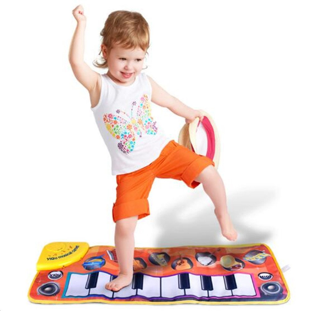Children's Music Primary Piano Dance Blanket, Baby Touch Keyboard Music Carpet Early Education Tool