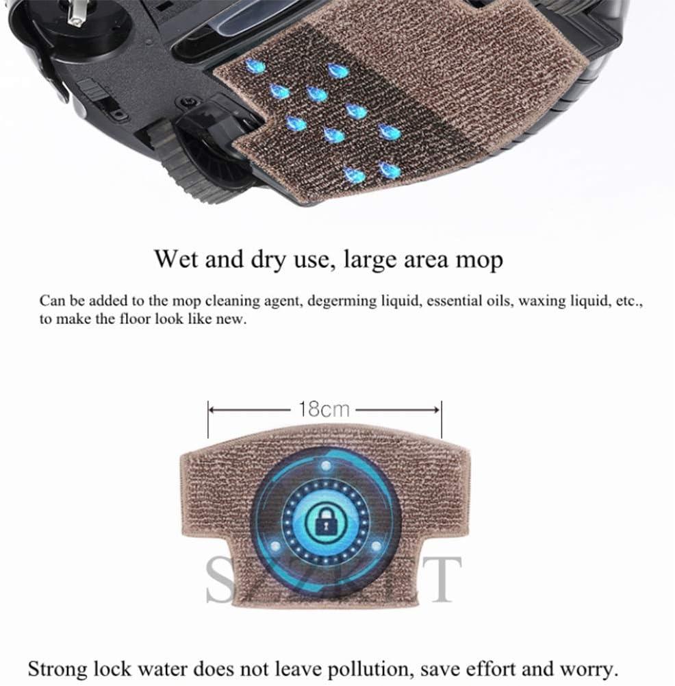 ZXL Robots de Nettoyage, vadrouilles à Balayage, Robots intelligents, Robots aspirateurs intelligents, aspirateurs, adaptés aux sols en Bois, carrelages, Tapis, etc,A A
