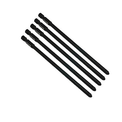 SabreCut SC141PZ2_3 - Juego de 5 destornilladores de pared seca de punta plana para Makita P-66282 6834 (141 mm, PZ2)