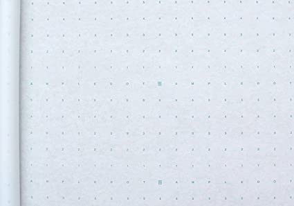 MADE IN USA 48 X 30 Yards Alpha Numeric Dotted Marking Paper//Pattern Paper Optimum Performance
