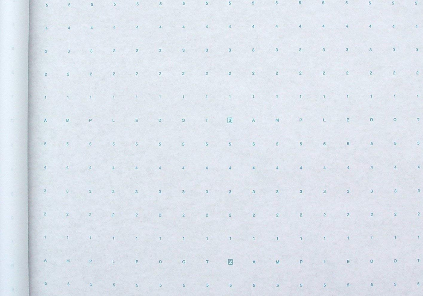 """Alpha Numeric Dotted Marking Paper/Pattern Paper (48"""" X 30 Yards) Optimum Performance. Made in USA"""