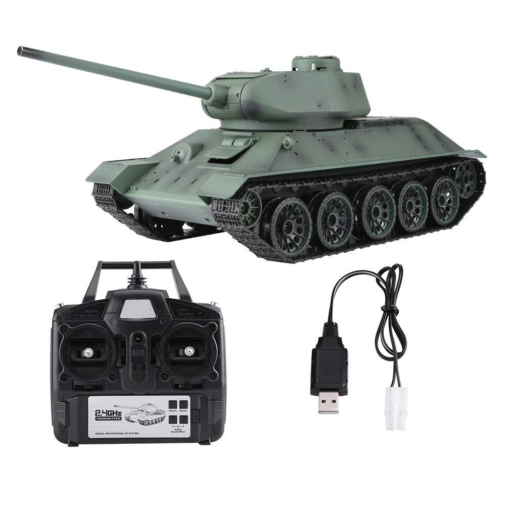 Dilwe 1/16 Skala 2.4 GHz Frequenz Fernbedienung Simulation Modell T-34 RC Tank für Kinder Kinder Spielzeug