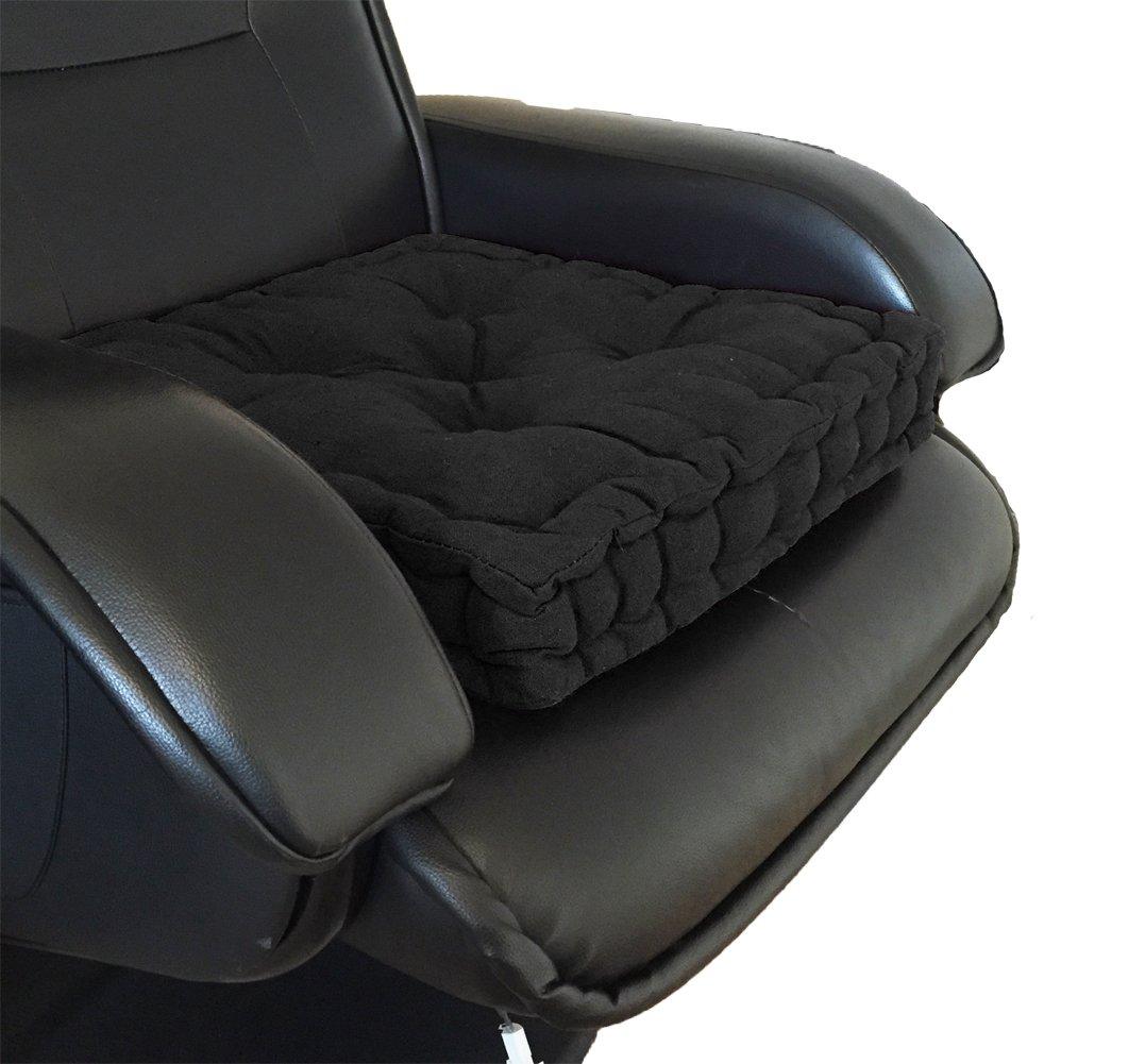 A-Express federa cuscino seduta spessa con supporto alzabimbo pieghevole per sedia giardinoo sedia di ufficio 42 x 42 x 10 cm nero