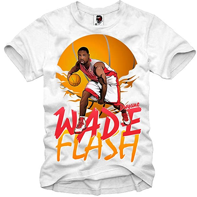 E1SYNDICATE T-SHIRT DWYANE WADE FLASH BASKETBALL HEAT USA DREAM TEAM ICON S-XL