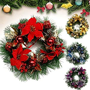 30cm vintage christmas wreath plastic holiday christmas decoration ornaments - Vintage Plastic Christmas Decorations