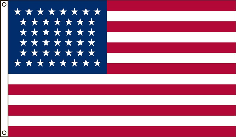 America's Flag Company 3-Foot by 5-Foot Nylon 44 Star United States Historical Flag with Canvas Header and Grommets