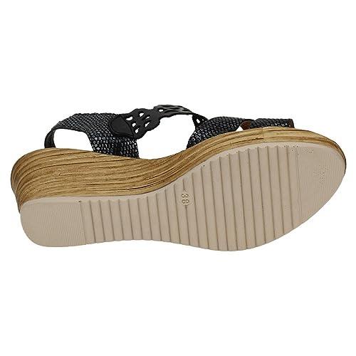 c5954077431 MADE IN SPAIN 757 Plataformas CÓMODAS Mujer Sandalias TACÓN  Amazon.es   Zapatos y complementos