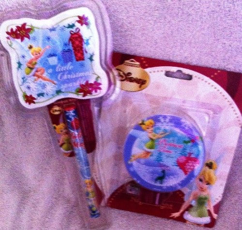 (Disney Tinkerbell Holiday Nightlight with Pen and Notepad)