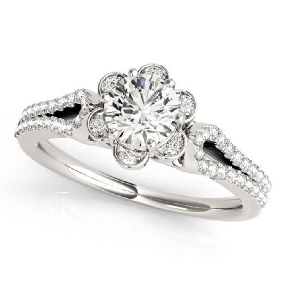 Nice 1.02 ct J-K Moissanite Engagement wedding Ring 925 Sterling Silver