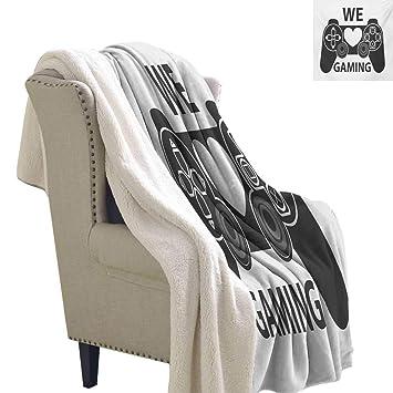 Amazon.com: Manta de gamer con diseño de calavera de ...