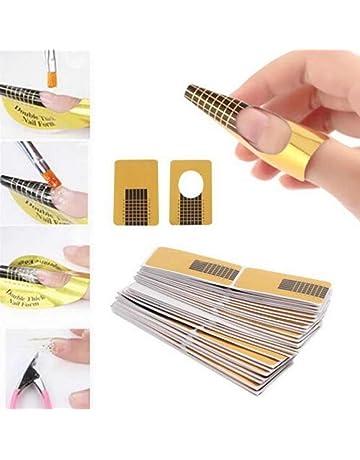 100 Piezas Placa de diseños - Sannysis Herramienta de bricolaje de uñas de manicura Tips Nail