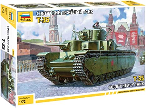 Neu Zvezda 5061-1//72 WWII T-35 Soviet Heavy Tank