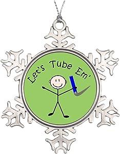 Take_U Custom Christmas Snowflake Ornament Respiratory Therapy Stick Person Let's Tube Em Outdoor Christmas Decoration
