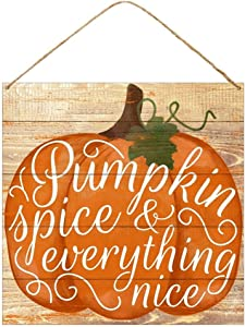 HAPPY DEALS ~ Pumpkin Spice and Everything Nice Tin Sign   12 x 12 inch