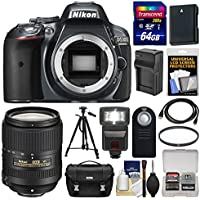 Nikon D5300 Digital SLR Camera Body (Grey) with 18-300mm VR Lens + 64GB Card + Case + Flash + Battery/Charger + Tripod Kit Explained Review Image