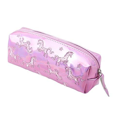 shager unicornio neceseres de baño maquillaje bolsa banda Waterproof cosmética casos de baño equipaje Zipper Bolsa