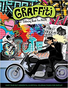 amazoncom graffiti coloring book for adults 9780997571431 donna duchek books - Graffiti Coloring Book