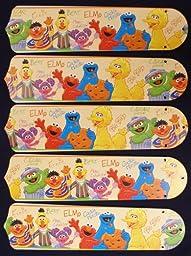 Ceiling Fan Designers 52SET-KIDS-SSEBB Sesame Street Elmo Big Bird 52 in. Ceiling Fan Blades Only