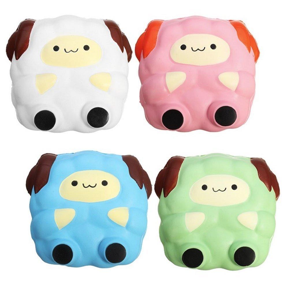 1 pz Squishy Jumbo Sheep 12cm Colossal Squishy Super Slow Rising Profumato Cute Kawaii Collezione Regalo Decor Stress Relief Peluche per Bambini Bambini Adulto, Rosa