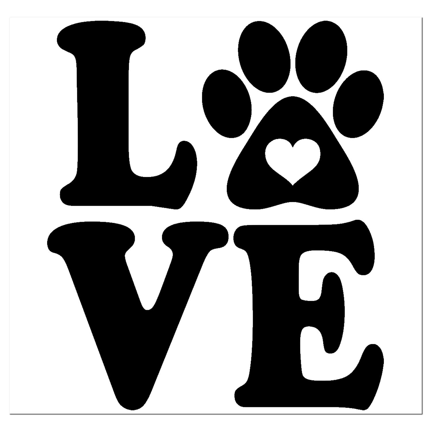 DOG LOVER STICKER-DECAL LOVE YOUR PAWS