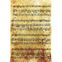 Music: Vintage. Gifts For Music Lovers, Teachers, Students, Songwriters. Presents For Musicians. 6 x 9in Journal Ruled Notebook To Write In 200 Lined Pages