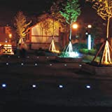1PC 8-LED Solar Power Buried Light Ground Lamp Outdoor Path Way Garden Decking
