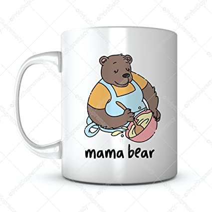 Mama Bear Mothers Day Gift Mug Ideas Funny Cartoon Coffee Quotes Sayings For Mom