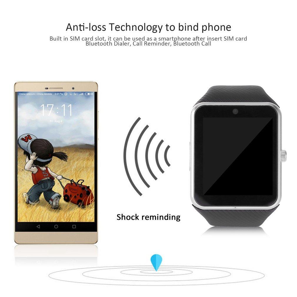GT08 Reloj Inteligente Bluetooth 2G a Prueba de Agua con 1.54