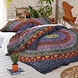 Exclusive Bohemian Indian mandala Tapestry Full Duvet WITH PILLOWCASES By ''Sophia Art, Mandala Bed cover, Boho duvet cover, doona cover (Multi)
