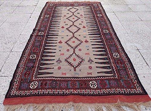 PillowsStore Animal & Human Pattern Vintage Wall Hanging Kilim Rug Tapestry Carpet 3.1 X 6.2