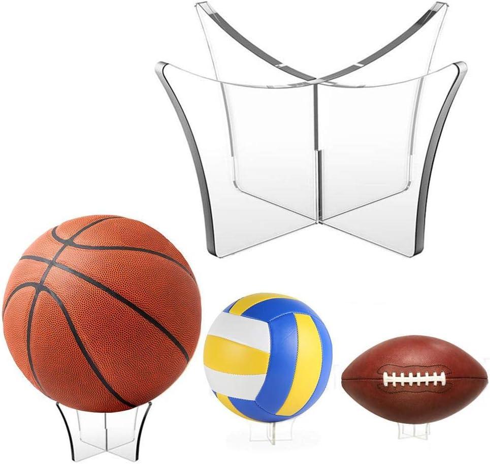 DE 3 Stück Acryl Ballhalter Ballständer für Basketball Fußball Volleyball Rugby