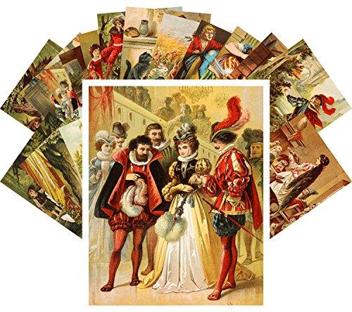 Postcard Set 24pcs Carl Offterdinger Classic Fairy Tales Vintage Book Art