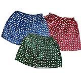 Men's Soft Underwear Thai Silk Blend Blue/Red/Green (Size: XXL : 40-44 Inches)