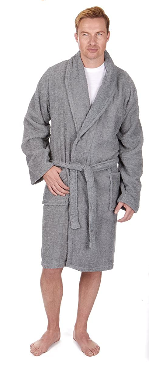 Pierre Roche - Men's Towel Robe Dressing Gown - Sizes M-XXL